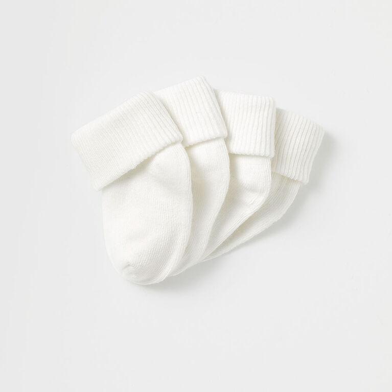 essential ankle socks, 0-6m - white