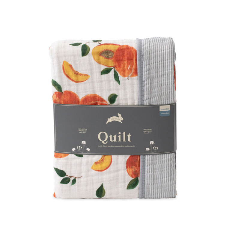 Red Rover - Cotton Muslin Quilt - Peachy - R Exclusive