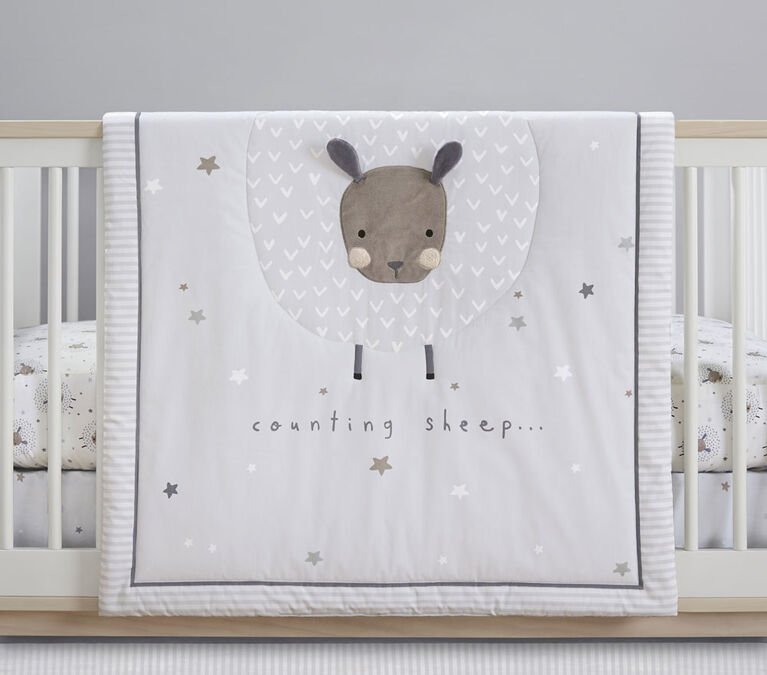 Ensemble pour couchette 3-pièces, Just Born Counting Sheep Collection