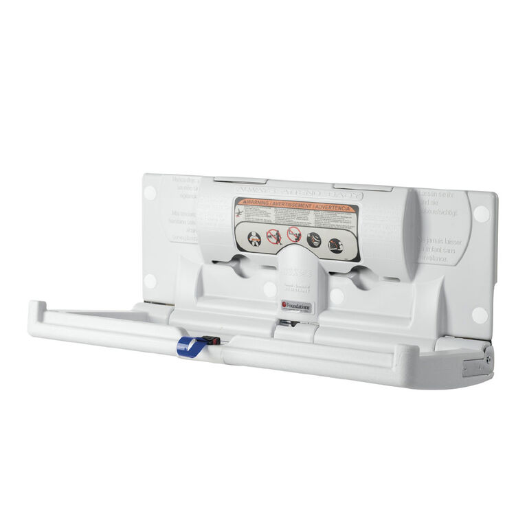 Foundations Horizontal Surface Mount Baby Changing Station (EZ Mount Backer Plate Included)