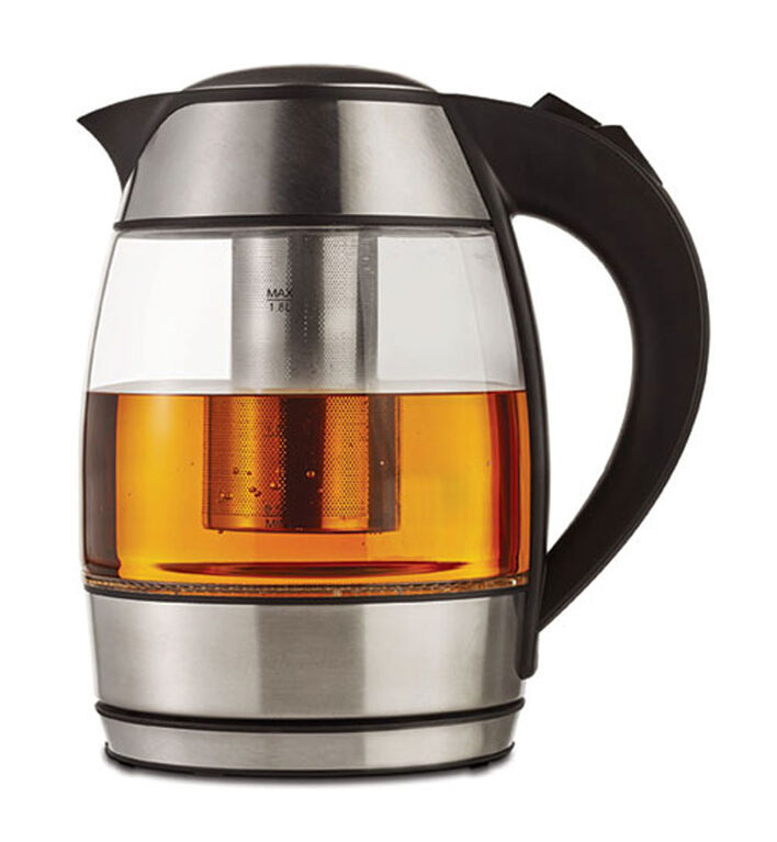 Brentwood Borosilicate Glass Tea Kettle with Tea Infuser.