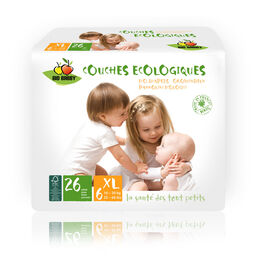 Bio Babby Eco Diapers - XL (6 x 26 ea)