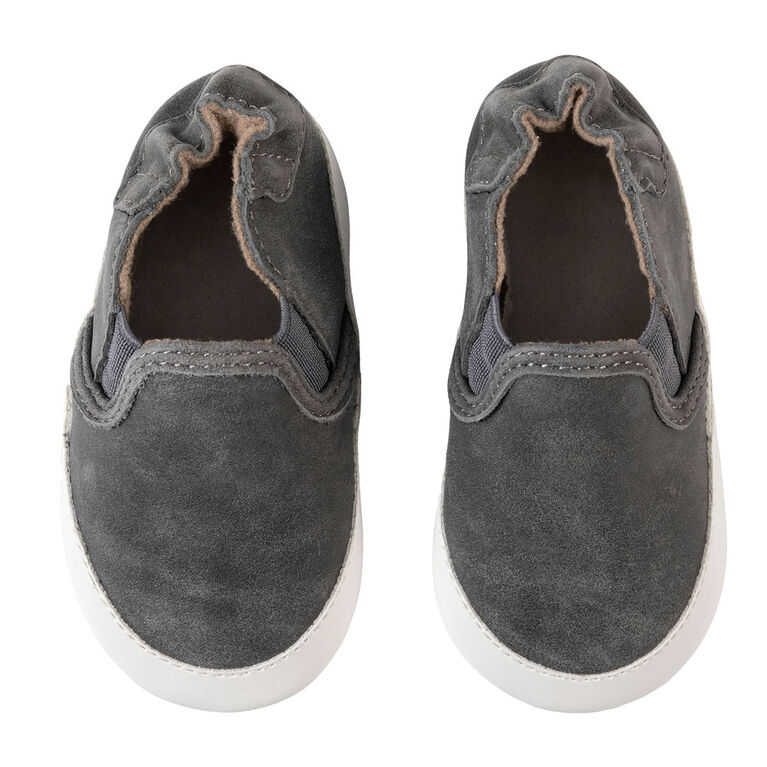Robeez - Soft Sole Grey Leather 0-6M