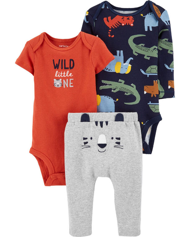 Carter's 3-Piece Tiger Little Character Set Orange - 12 Months