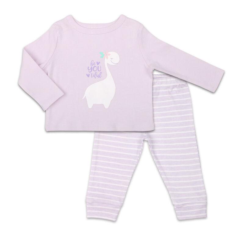 Ensemble combinaison à manches longues pour fille Koala Baby Dinomite avec pantalon, BeYOUtiful - Jusquà - 3 Mois