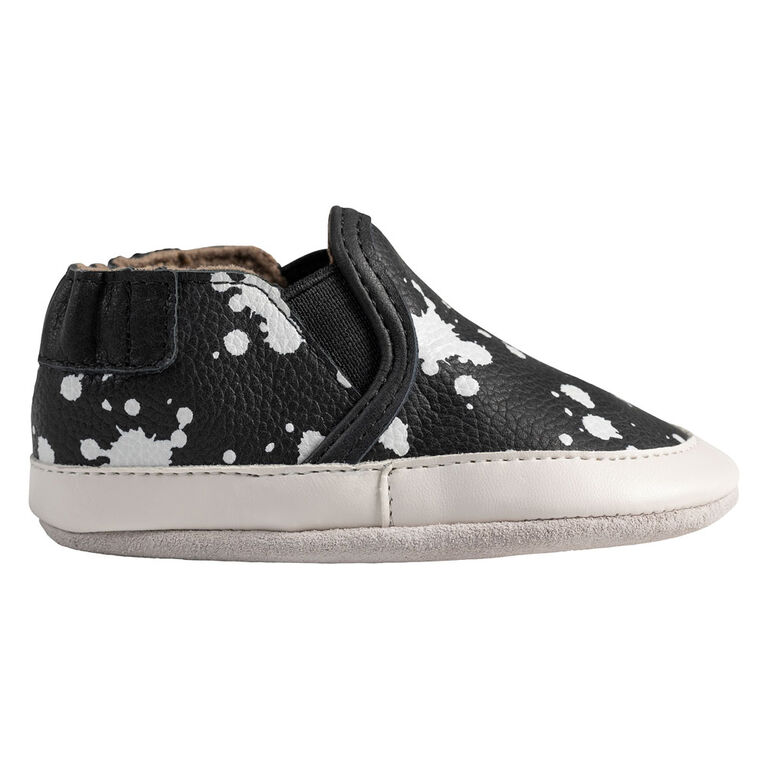 Robeez - SoftSoles Black&White Leather18-24M