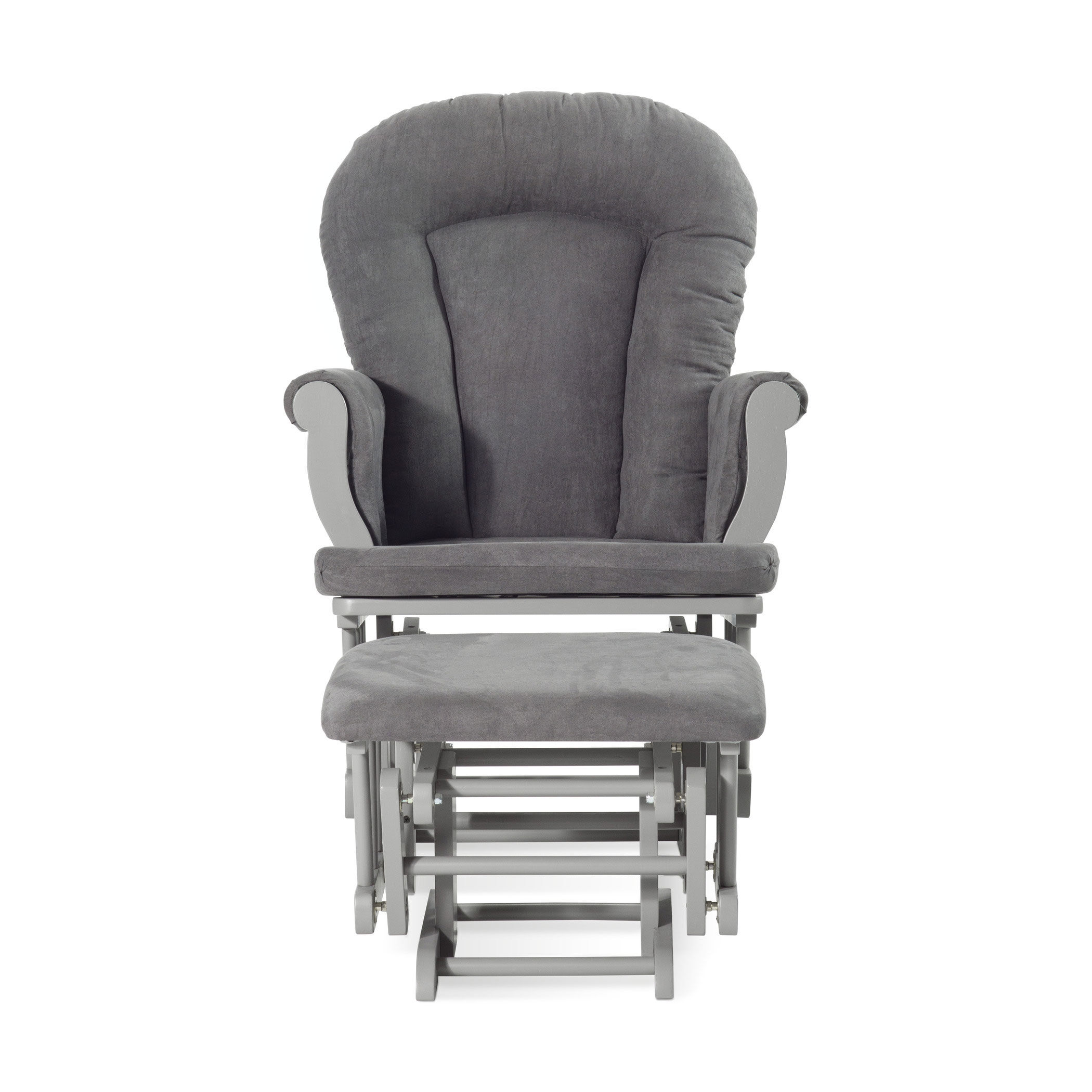 Cool Gray with Dark Gray Cushion Forever Eclectic by Child Craft Cozy Glider and Ottoman