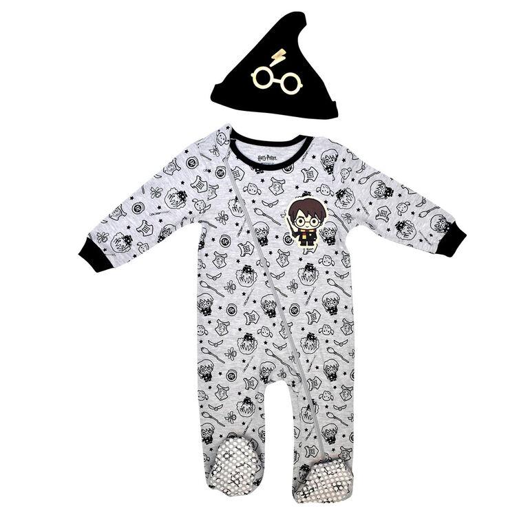 Warner's Harry Potter Sleeper with hat - Grey, 12 Months