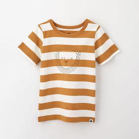 little styler graphic tee, 18-24m - cream stripe