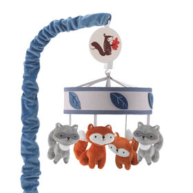 Lambs & Ivy - Little Campers Musical Baby Crib Mobile - Blue