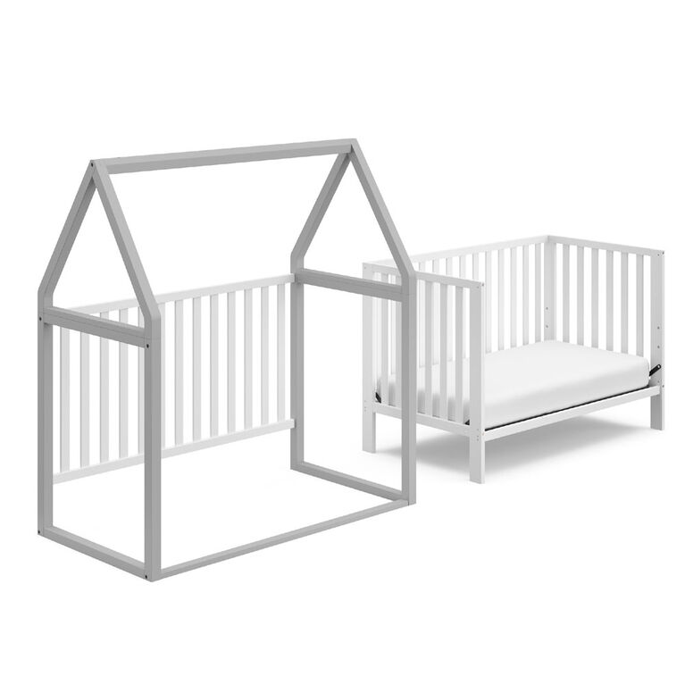 Storkcraft Orchard 5 In 1 Convertible Crib White Pebble