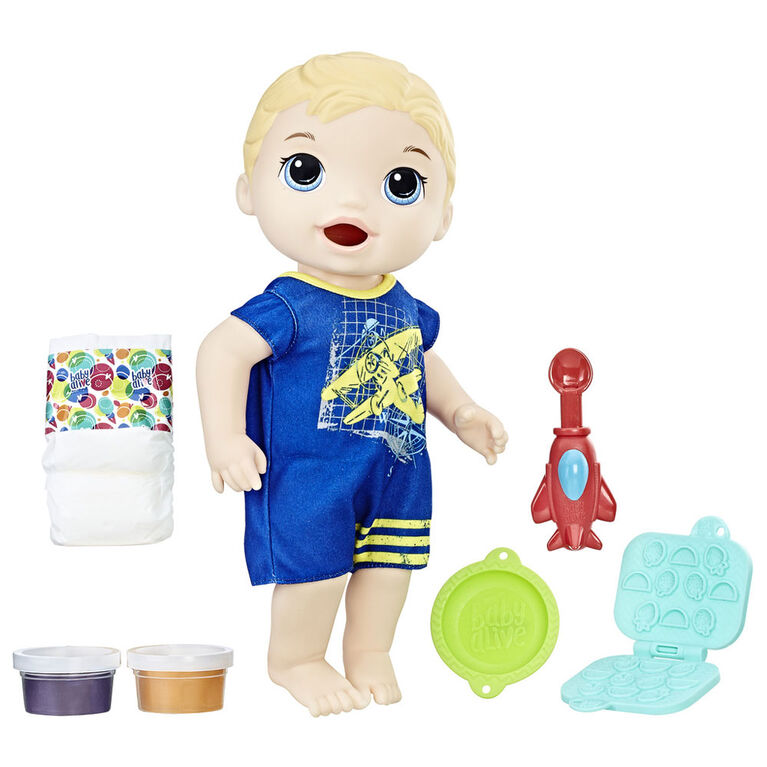 Baby Alive Super Snacks - Luc Bébé glouton (Blond).