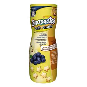 Gerber Graduates Soufflés saveur bleuet et vanille.