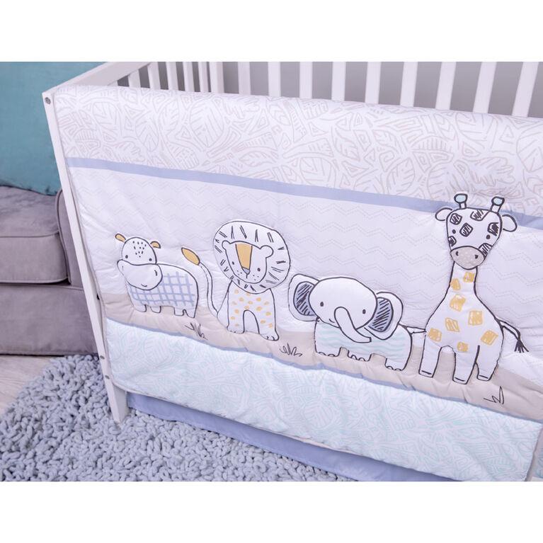 Sammy and Lou Safari Yearbook 4 Piece Crib Bedding Set