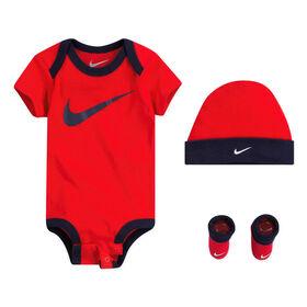 Ensemble Cadeau Nike - Rouge, Taille 0-6 mois