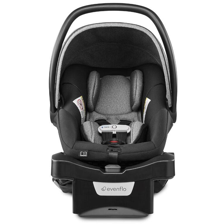 Evenflo GOLD SensorSafe LiteMax DLX Smart Infant Car Seat with SafeZone Load Leg, Moonstone