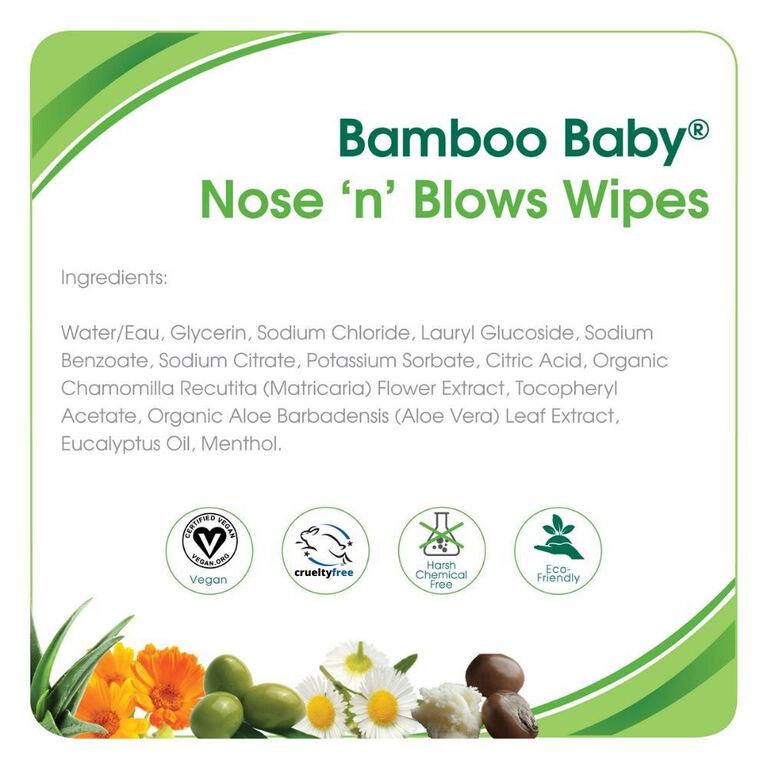 Aleva Naturals Bamboo Baby Serviettes Pour Moucher les Petits Nex.
