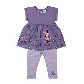 Disney Minnie Mouse 2-Piece Legging Set - Purple, 12 Months