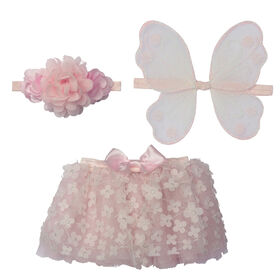 Elly & Emmy pink butterfly 3 piece tutu set
