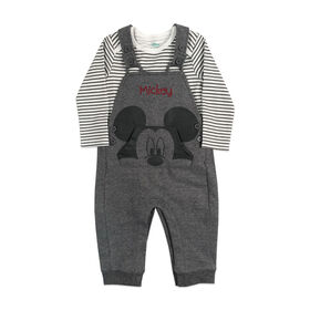 Disney Mickey Mouse 2 pc Overall set - Charcoal, 18 Months