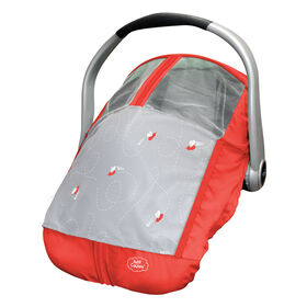 Petit Coulou Summer Car Seat Cover Red/Grey