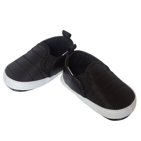 So Dorable  Black Quilted Nylon Slip On Shoe size 6-9 months