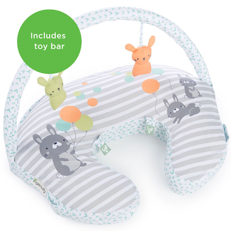 Plenti+ Nursing Pillow + Toy Bar - Hop Art
