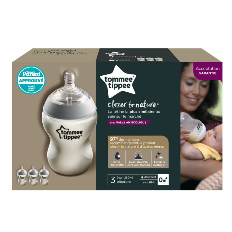 Tommee Tippee Closer to Nature 9oz Bottles - 3 pack