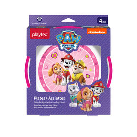 Emballage de 2 assiettes Paw Patrol de Playtex ? roses
