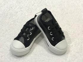 Tickle Toes Chaussure noire à semelle dure - taille 3
