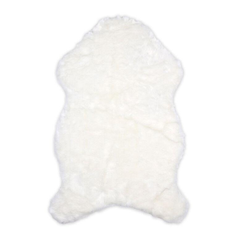 The Peanutshell Faux Fur Throw - Ivory