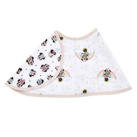 Aden Essentials - Disney-Minnie Rainbows-Single Burpy Bib