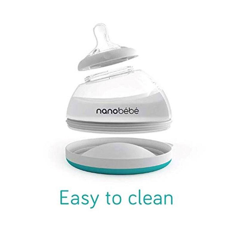 nanobébé - Transition Bottle8oz/240ml 3-Pack – Grey
