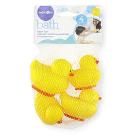 Babies R Us Yellow Rubber Duck Squirtees - 4-Pack