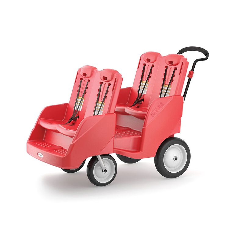 Foundations Gaggle 4 Multi-Passenger Buggy;Red