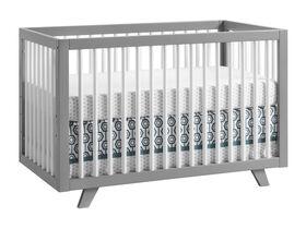 Visby 3-In-1 Gray/White Crib
