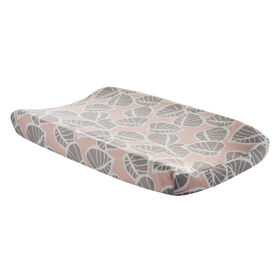 Lambs & Ivy Calypso Leaves Changing Pad Cover - Pink/Gray