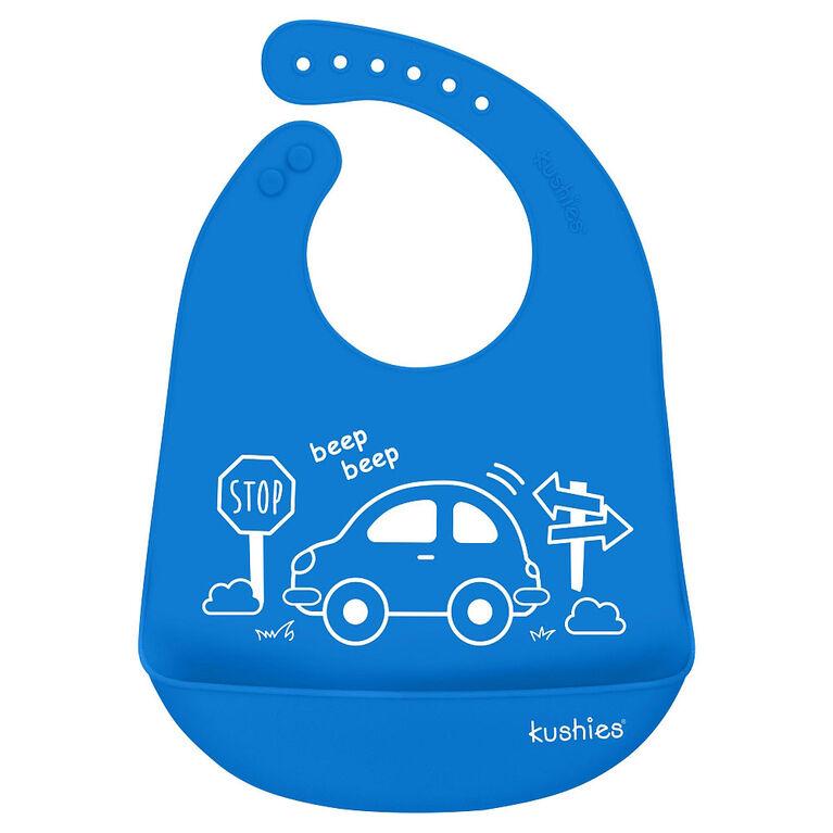 Silicatch Silicone Bib My Car - Azure