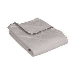 Quilted Comforter - Grey Crinkle