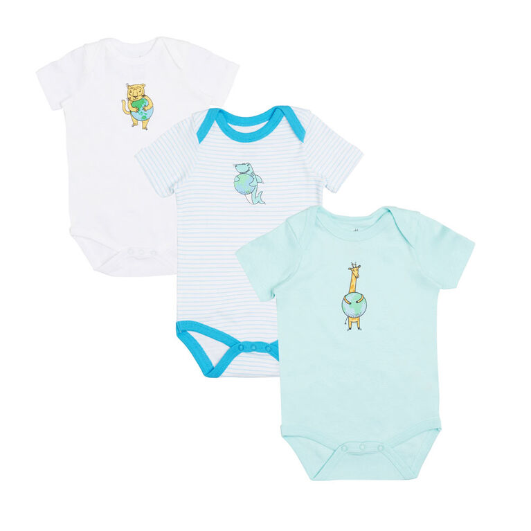 earth by art & eden Isla 3-Pack Bodysuit- 18 months