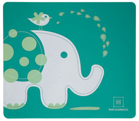 Marcus & Marcus Placemat - Ollie the Elephant - Green.