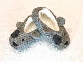Tickle Toes - Pantoufles de chien gris - 0-6 Mois