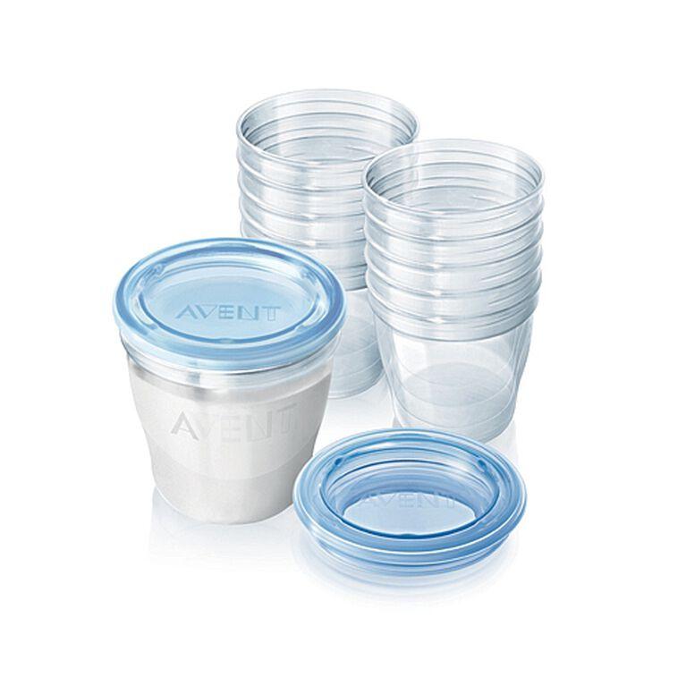 Système de conservation pratique du lait maternel de Philips AVENT sans BPA, 6oz, paquet de 10.