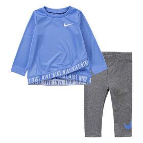 Ensemble De Legging Nike - Gris/Bleu, Taille 12 Mois