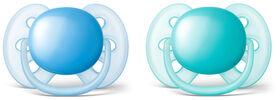 Philips AVENT suce ultradouce de 6 à 18 mois, Paquet de 2 - bleu/teal.