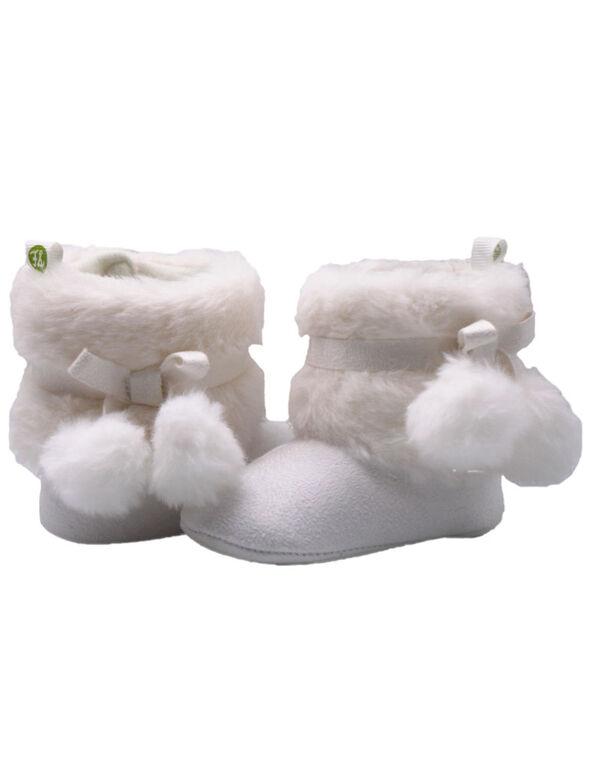 Bottillons de fausse fourrure blanc de First Steps Taille 1, 0-3 mois