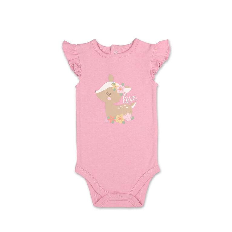 Ensemble 2pièces Koala Baby Petit Faon Daim - combinaison et jupe à motif floral, 24 Mois