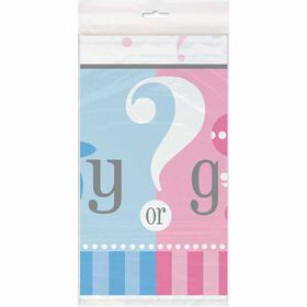 "Gender Reveal Nappe en Plastique 54"" x 84"" - Édition anglaise"