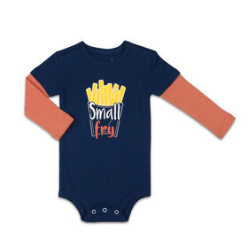 The Peanutshell Baby Boy Layette Mix & Match Small Fry Contrast Bodysuit - 6-9 Months