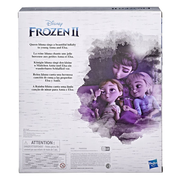 Disney's Frozen 2 Queen Iduna Lullaby Set with Elsa and Anna Dolls, Singing Queen Iduna - English Edition